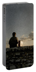 Boy On Wall Portable Battery Charger