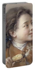 Boy With A Carrot, 1738 Portable Battery Charger