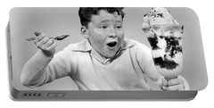 Boy With Giant Ice Cream Sundae, C.1950s Portable Battery Charger