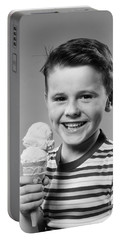 Boy With Ice Cream Cone, C.1950s Portable Battery Charger