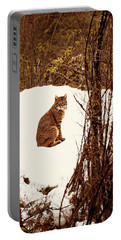 Bobcat In Snow Portable Battery Charger