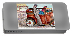 Bracco Candy Store - Window To Life As It Happened Portable Battery Charger by Philip Bracco