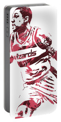 Bradley Beal Washington Wizards Pixel Art 3 Portable Battery Charger