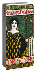 Bradley His Book - Christmas - Vintage Art Nouveau Poster - Advertising Portable Battery Charger