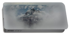 Brahma Temple In A Sea Of Clouds Portable Battery Charger
