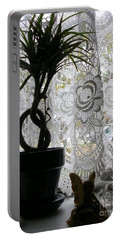 Braided Dracena On Sill Portable Battery Charger