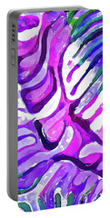 Brain Coral Abstract 4 In Purple Portable Battery Charger