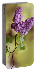 Branch Of Fresh Violet Lilac Portable Battery Charger