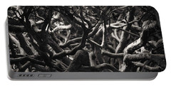 Branches In Monochrome Portable Battery Charger