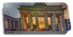 Portable Battery Charger featuring the photograph Brandenburg Gate by Pravine Chester