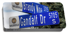 Brandywine And Gandalf Street Signs Portable Battery Charger by Gary Whitton
