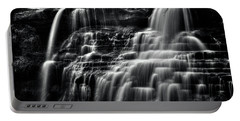 Brandywine Falls At Cuyahoga Valley National Park B W Portable Battery Charger