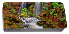 Brasstown Falls 013 Portable Battery Charger by George Bostian