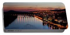 Bratislava City At Dusk Portable Battery Charger