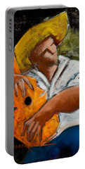 Portable Battery Charger featuring the painting Bravado Alla Prima by Oscar Ortiz