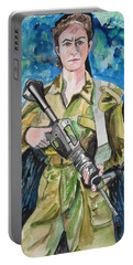 Bravado, An Israeli Woman Soldier Portable Battery Charger by Esther Newman-Cohen