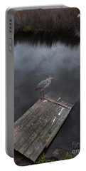 Brave Heron Portable Battery Charger by Expressionistart studio Priscilla Batzell