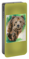 Portable Battery Charger featuring the painting Brawny by Barbara Keith