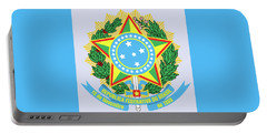 Portable Battery Charger featuring the drawing Brazil Coat Of Arms by Movie Poster Prints
