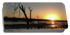 Brazos Bend State Park Sunset Portable Battery Charger