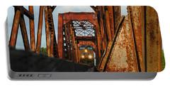 Brazos River Railroad Bridge Portable Battery Charger