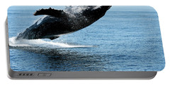 Breaching Humpback Whales Happy-2 Portable Battery Charger