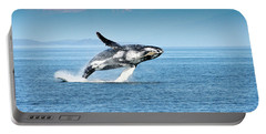 Breaching Humpback Whales Happy-4 Portable Battery Charger