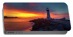 Break Of Day At Walton Lighthouse Portable Battery Charger