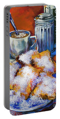 Breakfast At Cafe Du Monde Portable Battery Charger