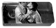 Portable Battery Charger featuring the photograph Breakfast At Tiffanys Audrey Hepburn And George Peppard by R Muirhead Art