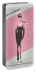 Breakfast At Tiffany's Portable Battery Charger by Ayse Deniz