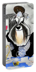 Breakfast At Tiffany's Schnauzer Caricature Portable Battery Charger