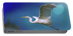 Breakin Dawn Flyer-the Great Egret Portable Battery Charger