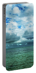 Portable Battery Charger featuring the photograph Breaking Clouds In Key West, Florida by Bob Slitzan