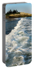 Portable Battery Charger featuring the photograph Breaking Wave, Reid State Park, Georgetown, Maine  -80486 by John Bald