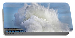 Breakwater Explosion Portable Battery Charger by Michael Cinnamond
