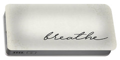 Breathe One Word Series Portable Battery Charger