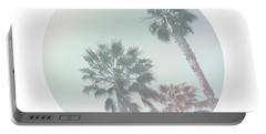 Breezy Palm Trees- Art By Linda Woods Portable Battery Charger