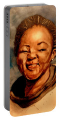 Portable Battery Charger featuring the painting Brenda  by Betty-Anne McDonald