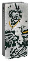Brett Favre Green Bay Packers Pixel Art Portable Battery Charger