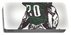 Portable Battery Charger featuring the drawing Brian Dawkins 3 by Jeremiah Colley