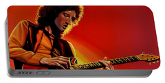 Brian May Of Queen Painting Portable Battery Charger by Paul Meijering