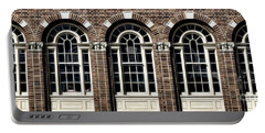 Portable Battery Charger featuring the photograph Brick Arch Windows by Brad Allen Fine Art