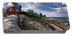 Brick Bell House At Pemaquid Point Light Portable Battery Charger by Joy Nichols