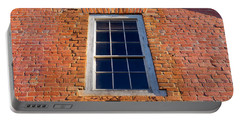 Brick House Window Portable Battery Charger by Derek Dean