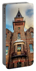 Portable Battery Charger featuring the photograph Brick Tower by Perry Webster