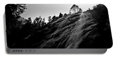 Bridal Veil Falls In Black And White Portable Battery Charger