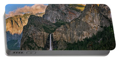 Portable Battery Charger featuring the photograph Bridalveil Falls From Tunnel View by John Hight