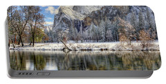 Bridalveil Falls From Valley View Yosemite National Park  Portable Battery Charger