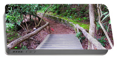 Portable Battery Charger featuring the photograph Bridge Across The Creek by Cathy Harper